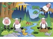 Flis foto tapeta Ovčice u šumi MS50341 | 375x250 cm Foto tapete