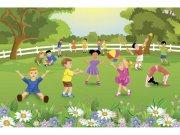 Flis foto tapeta Djeca na dvorištu MS50343 | 375x250 cm Foto tapete