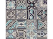 Vinil tapeta Ceramics retro pločice sive 270-0169 | širina 67,5 cm Na skladištu