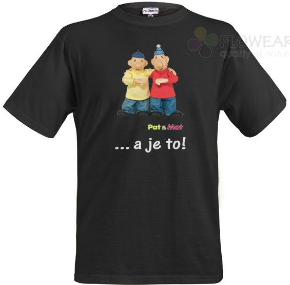 Majica Pat i Mat crna, veličina L - Majice za odrasle