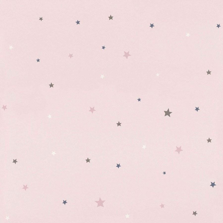Papirnata tapeta za zid Ružičasto šarene zvijezdice Aldora 245233 | Ljepilo besplatno - Na skladištu