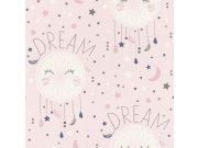 Papirnata tapeta za zid Ružičaste zvjezdice Aldora 248753, Ljepilo besplatno Na skladištu