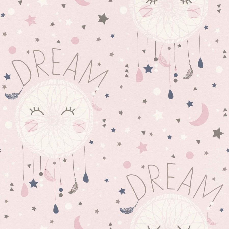 Papirnata tapeta za zid Ružičaste zvjezdice Aldora 248753, Ljepilo besplatno - Na skladištu