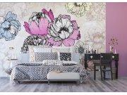 Flis foto tapeta Cvijeće u apstrakciji FTNXXL-1230 | 360x270 cm Foto tapete