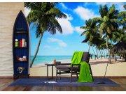 Flis foto tapeta Palme na plaži FTNXXL-1234 | 360x270 cm Foto tapete