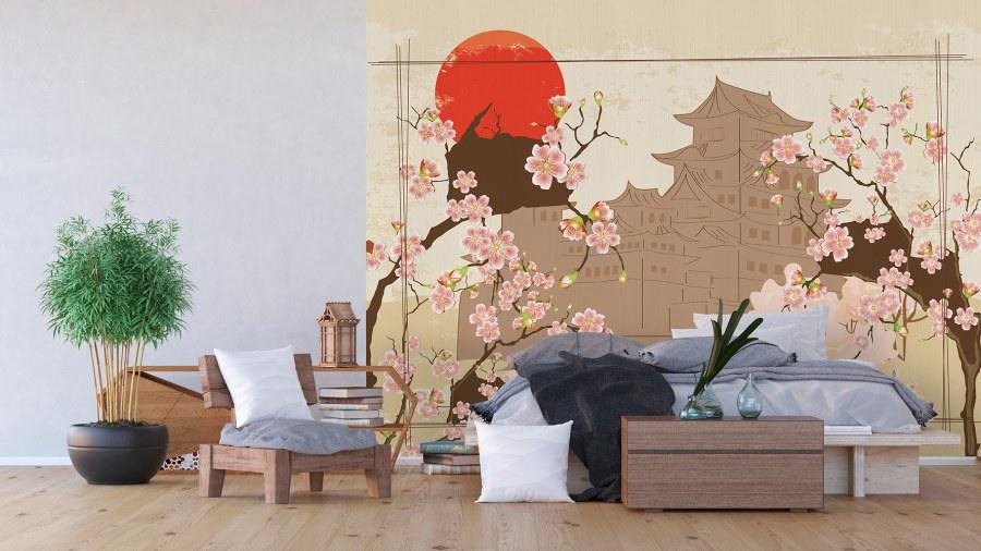 Flis foto tapeta Japanski vrt FTNXXL-1237 | 360x270 cm - Foto tapete