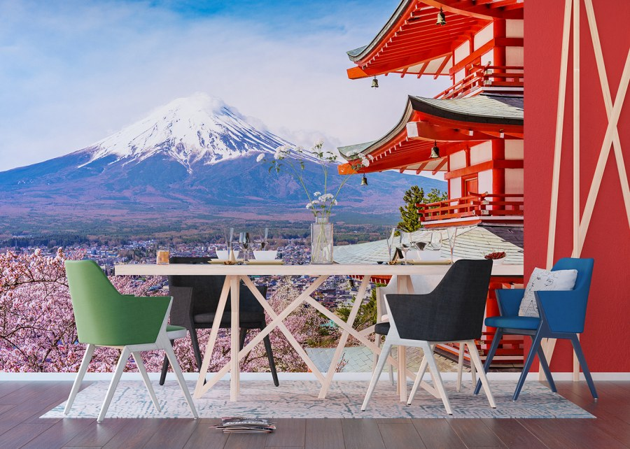 Flis foto tapeta Japanska planina FTNXXL-1238 | 360x270 cm - Foto tapete