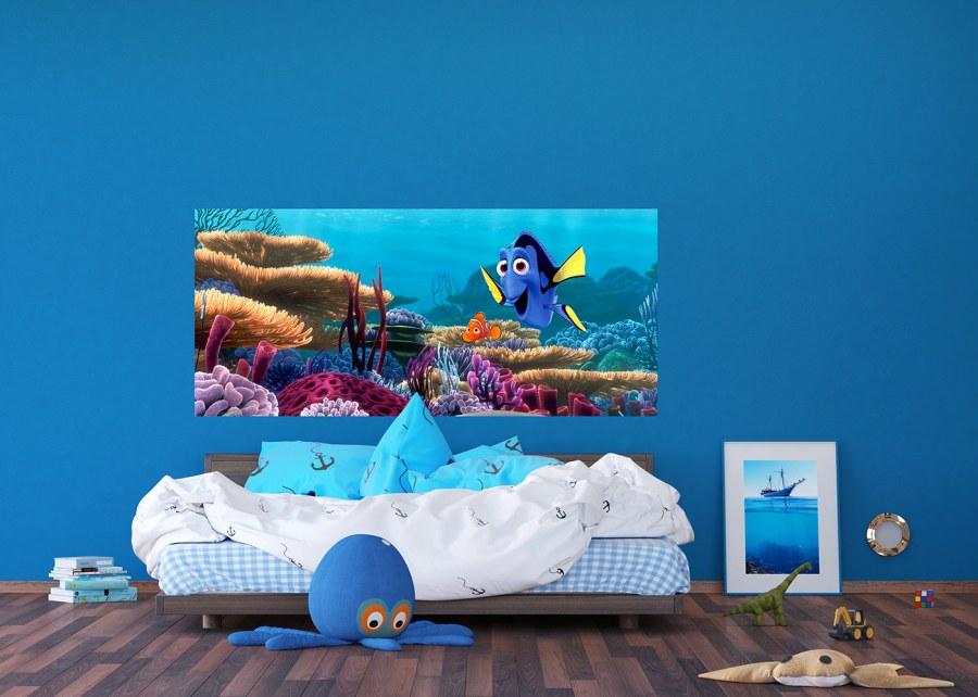 Flis foto tapeta Disney Dori i Nemo FTDNH-5379 | 202x90 cm - Foto tapete