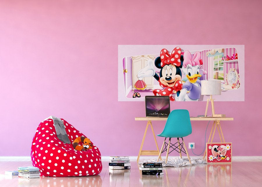 Flis foto tapeta Minnie i Daisy FTDNH-5383 | 202x90 cm - Foto tapete