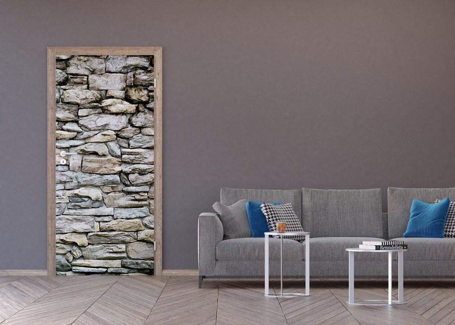 Flis foto tapeta Kameni zid smeđi FTNV-2945 | 90x202 cm - Foto tapete