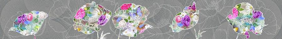 Samoljepljiva bordura Apstrakcija cvijeće WB8244 - Samoljepljive bordure