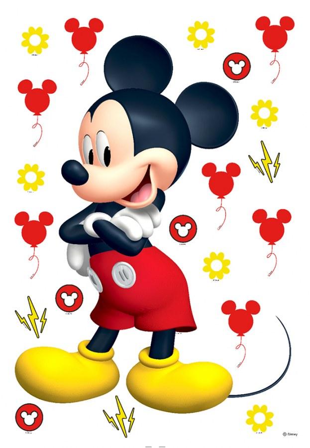 Samoljepljiva dekoracija Mickey Mouse DK-1725, dimenzije 42,5 x 65 cm - Naljepnice za dječju sobu