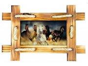 Samoljepljiva dekoracija Konji u okviru SM-3432, dimenzije 42,5 x 65 cm Naljepnice za zid