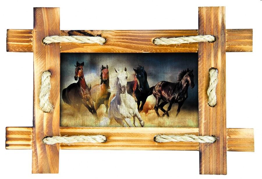 Samoljepljiva dekoracija Konji u okviru SM-3432, dimenzije 42,5 x 65 cm - Naljepnice za zid