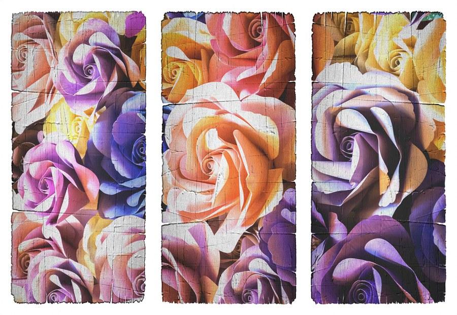 Samoljepljiva dekoracija Cvijeće v obraze SM-3441, dimenzije 42,5 x 65 cm - Naljepnice za zid