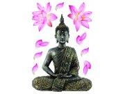 Samoljepljiva dekoracija Budha SM-3447, dimenzije 42,5 x 65 cm Naljepnice za zid