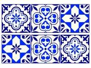 Samoljepljiva dekoracija Retro pločice SM-3448, dimenzije 42,5 x 65 cm Naljepnice za zid