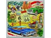 Samoljepljiva dekoracija Route 66 auta SS-3850, 30x30 cm Naljepnice za zid