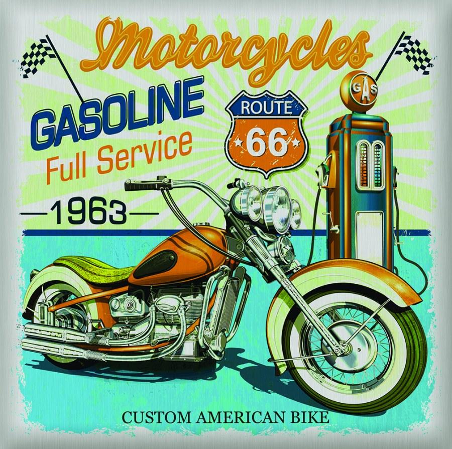 Samoljepljiva dekoracija US Motor SS-3851, 30x30 cm - Naljepnice za zid