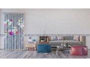 Foto zavjesa Cvijeće u sivoj FCSL-7585, 140 x 245 cm Foto zavjese