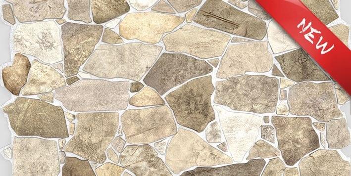 3D zidni PVC panel imitacija kamena smeđa - 3D zidni paneli