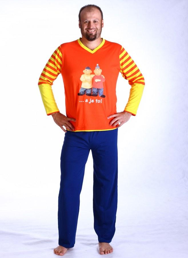 Muška pidžama Pat a Mat, veličina XXL - Muške pidžame Pat i Mat
