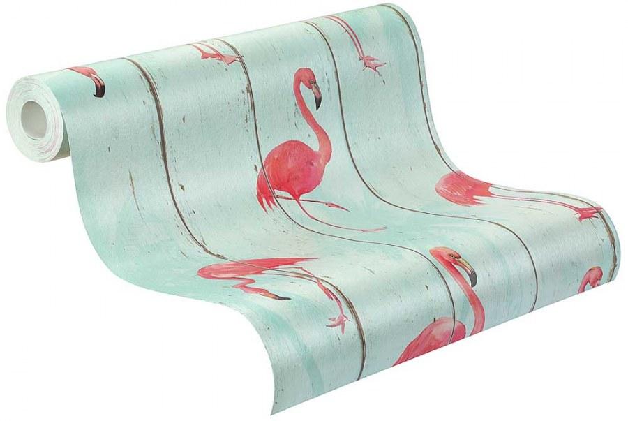 Flis tapeta Barbara Becker flamingosi 479706 - Akcija