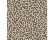 Zidna flis tapeta Freundin 465013, smeđa s motivom geparda | Ljepilo besplatno Rasch