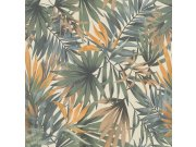Zidna flis tapeta Freundin 465211, žuta s palminim lišćem | Ljepilo besplatno Rasch