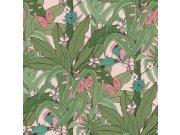 Flis tapeta za zid Club Botanique 538953 | Ljepilo besplatno Rasch