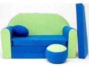 Dječja sofa plavo-zelena Dječje sofe