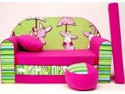 Dječja sofa zeleno-ljubičasta Dječje sofe