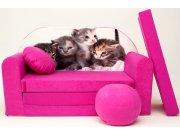 Dječja sofa Mačke ružičaste Dječje sofe