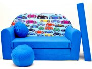 Dječja sofa automobili plavi Dječje sofe