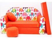 Dječja sofa Elephants Narančasta Dječje sofe
