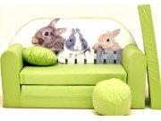 Dječja sofa zeleni Zeko Dječje sofe