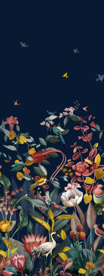 Luksuzna flis foto tapeta Christian Fischbacher 219190, Kotori, 106 x 280 cm | Ljepilo besplatno - BN International