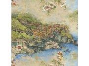 Luksuzna zidna flis tapeta Acquazzurra 46418, 1,06 x 10 m | Ljepilo besplatno Emiliana Parati