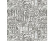 Luksuzna zidna flis tapeta Palazzo Reale 46531, 1,06 x 10 m | Ljepilo besplatno Emiliana Parati