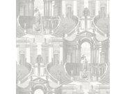 Zidna flis tapeta baroko Verde 2 VD219152, 0,53 x 10 m | Ljepilo besplatno Design ID