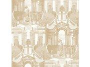 Zidna flis tapeta baroko Verde 2 VD219153, 0,53 x 10 m | Ljepilo besplatno Design ID