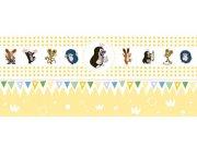 Dječja flis bordura Krtica 6140003 | 23,5 cm x 3 m | Ljepilo besplatno Na skladištu