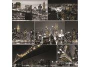 Dječja papirnata tapeta Kids@Home Noćni grad, 101696, 0,52 x 10 m | Ljepilo besplatno Djeca