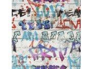 Dječja papirnata tapeta Kids@Home Graffiti, 101686, 0,52 x 10 m | Ljepilo besplatno Djeca