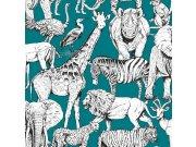 Dječja flis tapeta Kids@Home džungla, 107692, 0,52 x 10 m | Ljepilo besplatno Djeca