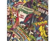 Dječja papirnata tapeta Kids@Home Marvel comics, 106378, 0,52 x 10 m | Ljepilo besplatno Djeca