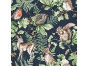 Dječja flis tapeta Kids@Home šumske životinje, 108568, 0,52 x 10 m | Ljepilo besplatno Djeca