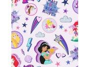 Dječja papirnata tapeta Kids@Home Disney Princeze, 108018, 0,52 x 10 m | Ljepilo besplatno Djeca