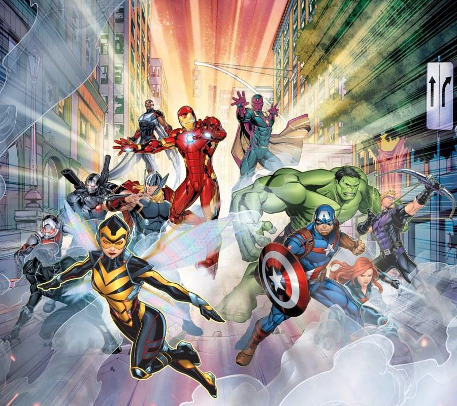 Foto zavjese Avengers FCSXL4393, 180 x 160 cm - Foto zavjese