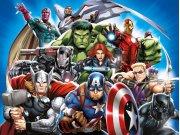 Dječji flis foto tapeta Avengers FTDNXXL5081 | 360 x 270 cm Foto tapete